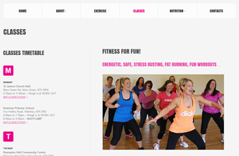 Claire for Fitness - Exercise